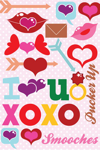 {New Freebie } Valentines day iphone wallpaper