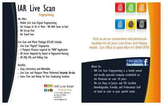 Iar Live Scan Fingerprinting Notary Facebook