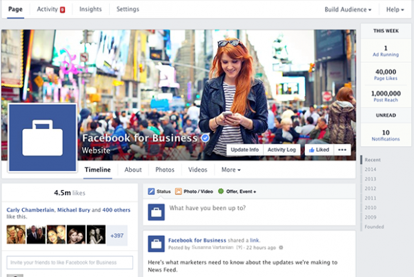 The Location of Tabs in New Facebook Page Layout