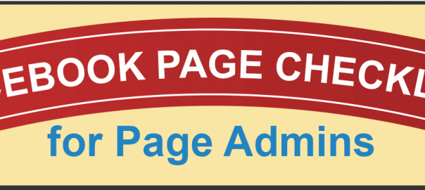 Facebook Page Checklist for Facebook Admins header