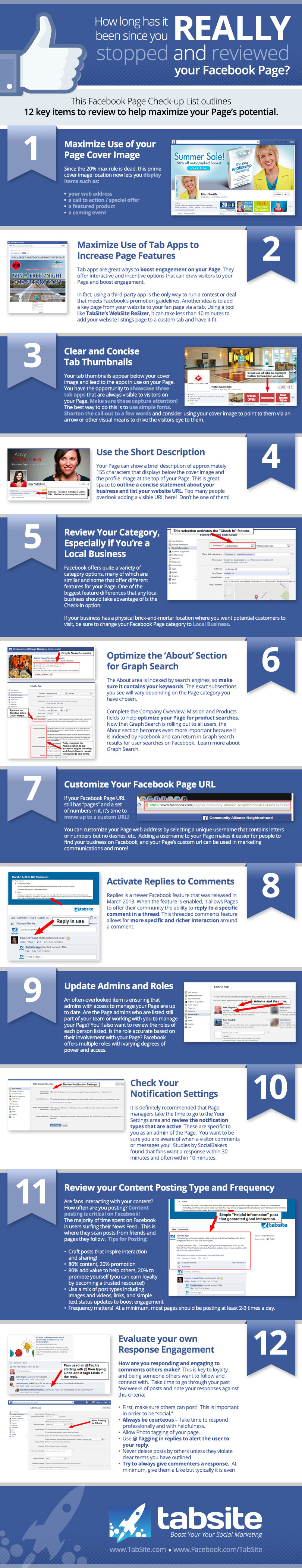 Simple Tips For Facebook Page admins and Managers: infographic